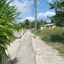 Belize- yellow brick road in Placencia