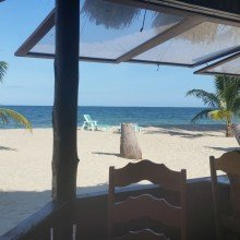 Belize- view from a great restaurant in Placencia