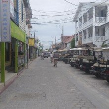 Belize- a picture of the main mode of transport in San pedro