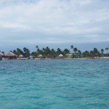 Belize- view from taxi in San Pedro