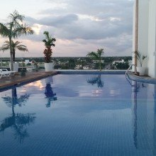 Mexico- rooftop pool in Chetumal