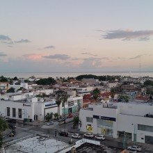 Mexico- view from rooftop of hotel in Chetumal