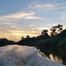 Belize river sunset